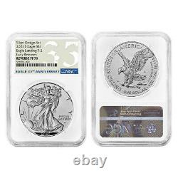 Presale 2021 Inverser La Preuve American Silver Eagle Designer 2pc Set Ngc Pf70 Er