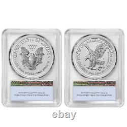 Presale 2021 Inverser La Preuve American Silver Eagle Designer 2pc Set Pcgs Pr69 Fs