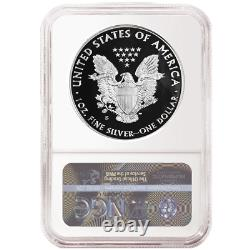 Prévente 2020-s Proof 1 $ Américain Silver Eagle Ngc Pf70uc Chariot Er Étiquette