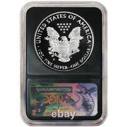 Prévente 2020-s Proof 1 $ Américain Silver Eagle Ngc Pf70uc Fdi Trump Étiquette Retro