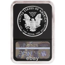 Prévente 2020-s Proof 1 $ Américain Silver Eagle Ngc Pf70uc Ide Première Étiquette Rétro