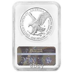 Prévente 2021-s Preuve $1 Type 2 American Silver Eagle Ngc Pf70uc Marron Étiquette