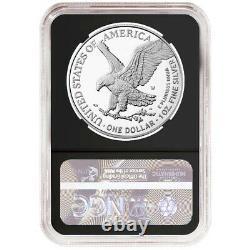 Prévente 2021-w Preuve $1 Type 2 American Silver Eagle Ngc Pf70uc Er Black Label