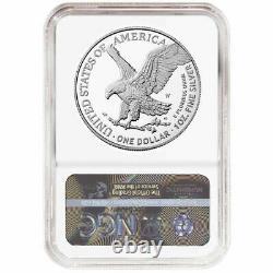 Prévente 2021-w Preuve $1 Type 2 American Silver Eagle Ngc Pf70uc Er Blue Label