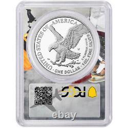 Prévente 2021-w Preuve $1 Type 2 American Silver Eagle Pcgs Fdoi Pr70dcam West P