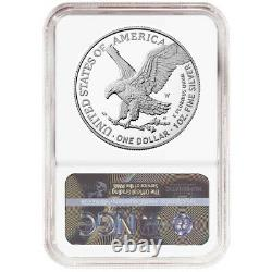 Prévente 2021-w Proof $1 Type 2 American Silver Eagle Ngc Pf70uc Marron Étiquette