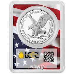 Prévente 2021-w Proof $1 Type 2 American Silver Eagle Pcgs Fs Pr70dcam Flag Fra