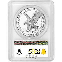 Prévente 2021-w Proof $1 Type 2 American Silver Eagle Pcgs Pr70dcam Blue Label