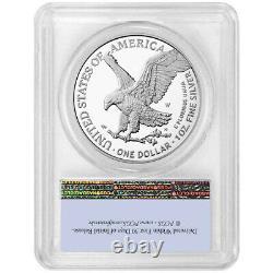 Prévente 2021-w Proof $1 Type 2 American Silver Eagle Pcgs Pr70dcam Fs Flag Lab
